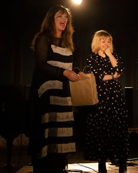 Comedian Josie Lawrence with HWNS chair of trustees, Andrea Daniels. Picture: Madeleine Waller