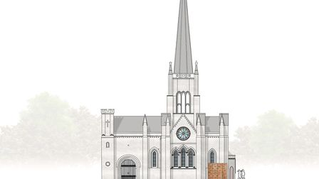 A picture of Abney Park Chapel, which is going to be fully restored with a �4.4m National Lottery gr