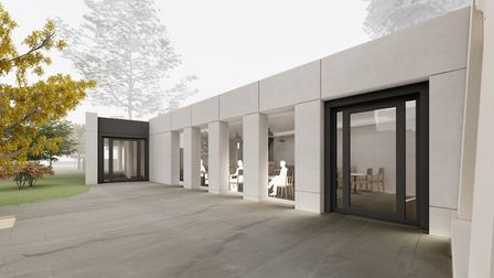 An artist's impression of what the cafe in Stoke Newington High Street will look like. Picture: Hack