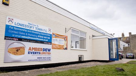 Lowestoft Town FC's home ground, the Amber Dew Events Stadium. Picture: Nick Butcher