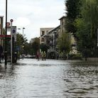 The flooding in Finsbury Park. Picture: David Nathan