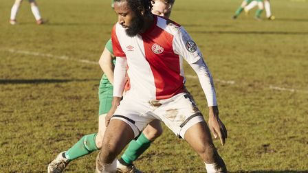 Sporting Club de Mundial in action against St Josephs. Picture: James Starkey