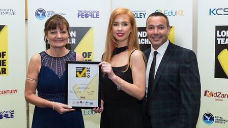 Last year, Jacqueline McQuade (left) of Regent High School in Camden won the support staff award for
