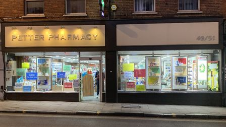 Petter Pharmacy has been welcoming customers to Crouch End Broadway for more than 50 years. Picture: