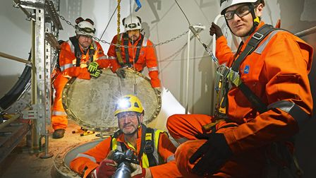 CHPV undertaking 360VR tour of the London Array offshore wind farm. Photographer and film maker Alan