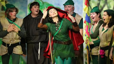 The Victoria Park Players in their original production of Little Red Robin Hood. Picture: Tim Castle