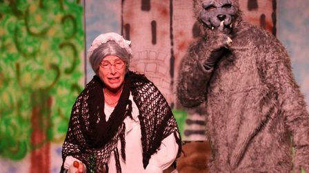 The show was a mash-up of Little Red Riding Hood and Robin Hood. Picture: Tim Castle