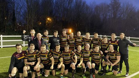Hampstead RFC face the camera after victory over Chiswick (Pic: Jon Boyle)
