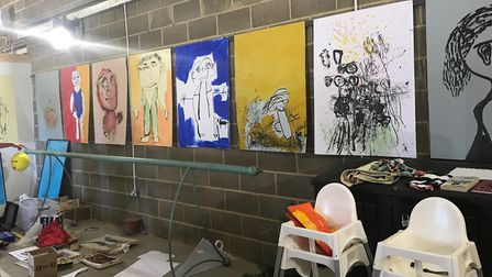 Just some of the works that will form part of the exhibition. Picture: Suffolk Artlink