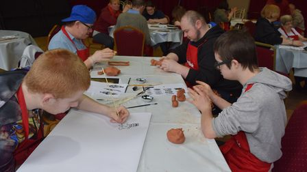 JumpstART students exploring the human body in Lowestoft as part of the 15-week course that culminat