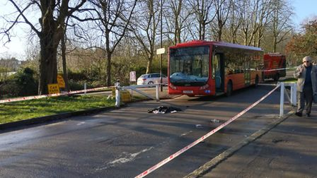 A man was hit by a bus in Alexandra Palace Way. Picture: Sam Volpe