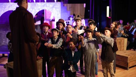 Francis Bradbury playing Fagin in Stoke Newington School's production of Oliver. Picture: Nathan Hol