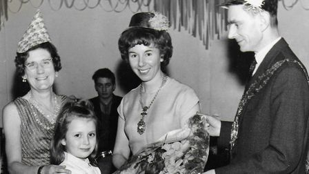Vicky and alderman Bob Masters, at a Christmas party in 1964.