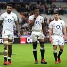 England's Courtney Lawes (left), Maro Itoje (centre) and Ben Youngs react after the Guinness Six Nat