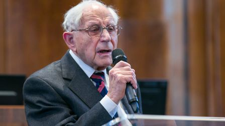 92-year old Harry Olmer lost his mother Chana and oldest sister Golda in the Holocaust. They and man
