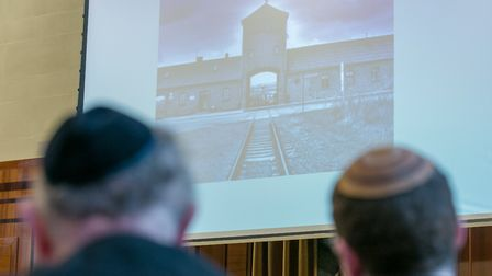 At Hackney Town Hall's attendees learned about the history of the Holocaust. Picture: Hackney Counci