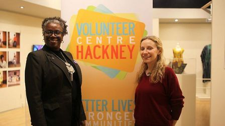 Cllr Carole Williams at the VCH volunteering event at Hackney Museum. Picture: Hackney Council