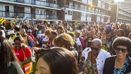 Hundreds of revellers turned up to watch the Hackney Carnival parade. Picture: Andy Commons