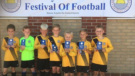Waveney U8 Thundercats, who won the U8 section of the Kirkley and Pakefield FC 2018 festival of foot