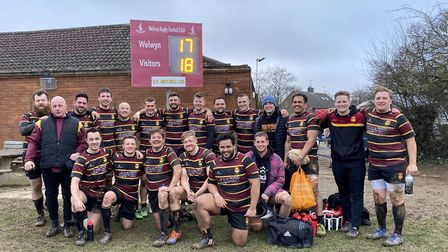 Hampstead celebrating their victory over Welwyn on the weekend (Pic: Jon Boyle)