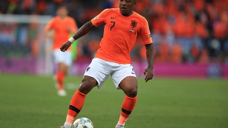 Steven Bergwijn in action for Netherlands (Pic: Mike Egerton/PA)