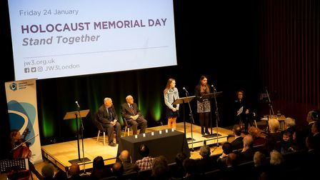 The Holocaust Memorial Day ceremony at the Jewish Community Centre London, Finchley Road. Picture: P