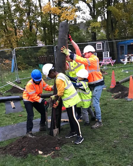 Build Up helped young people build Netageddon in Homerton Grove Adventure Playgrond. Picture: Build