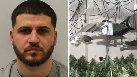 Fabion Kuci has been jailed after being caught raiding a 'rival gang's cannabis factory'. Picture: M