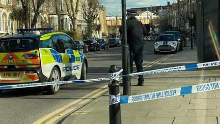 Bodney Road was taped off after the fatal collision. Picture: @999London