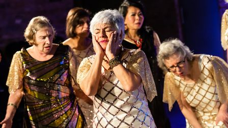 The Arcola over-50s acting group are performing their version of the Greek Comedy Lysistrata in whic
