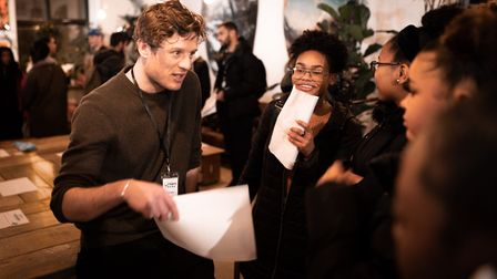 Actor James Norton attended a careers event for young people at the Ridley Road Social Club. Pictur