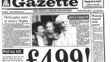 This week 30 years ago. Picture: Hackney Archives
