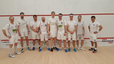 Former squash world number one James Willstrop gave tuition to members at Cumberland LTC