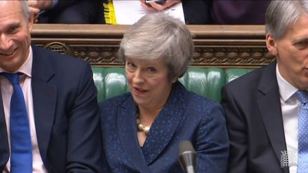 Theresa May was rattled by Jeremy Corbyn's attacks during PMQs Photo: PA