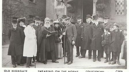 The tradition held in 1910. Picture: Highgate Literary and Scientific Institution