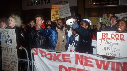 The first anniversary of Colin Roach's death inside Stoke Newington Police Station. Picture: Rio Cin