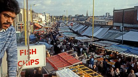 Ridley Road Market in the 80s. Picture: Rio Cinema Archive