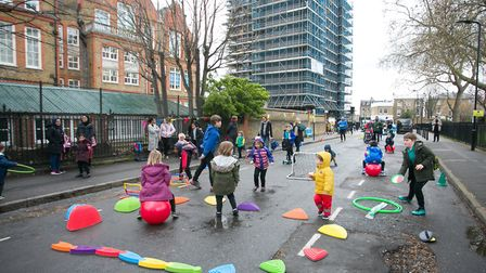 The school street at Gayhurst School. Picture: Gary Manhine/ Hackney Council