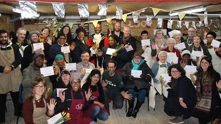 Loop and Silver Lining volunteers and staff with the Mayor and Speaker of Hackney. Picture: Orla Gil