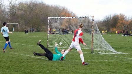Sporting Club de Mundial score against Power Red. Picture: James Starkey