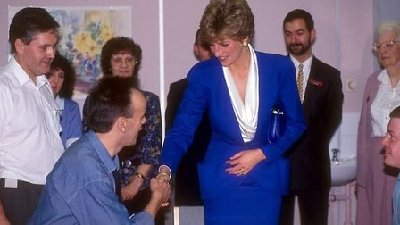 The hospital was made famous when Diana, Princess of Wales, visited it in the 1980s and shook a pati