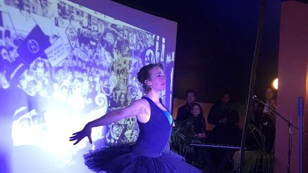 Vanessa Fenton performed a choreographed dance piece as a tribute to Gary. Picture: Alan Miller