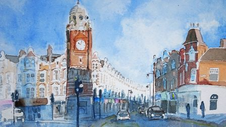 Highgate Watercolour Group Crouch End by Chris Baker
