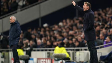RB Leipzig manager Julian Nagelsmann on the touchline during the UEFA Champions League round of 16 f