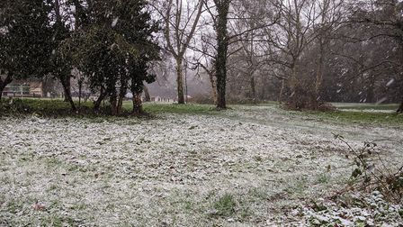 Snowfall in NW3 on morning of February 27. Picture: Sam Volpe