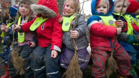Children from the German Kindergarten on the Morland Estate. Picture: Gary Manhine/ Hackney Council