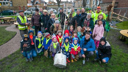 Volunteers from the Morland Estate. Picture: Gary Manhine/ Hackney Council