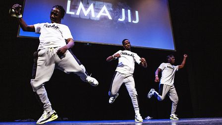 Winners of Hackney Empire's youth talent show LMA JIJ. Picture: Fabrice Bourgelle