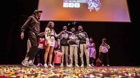 Hosts Poet, Snoochie Shy and winners LMA JIJ. Picture: Fabrice Bourgelle