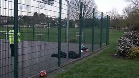 A teenage boy was stabbed in Basing Hill Park, Childs Hill. Picture: @999London